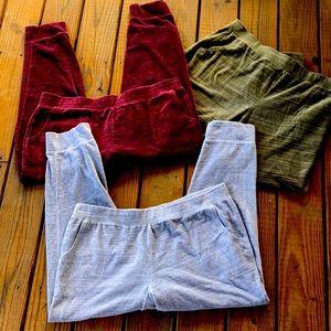 D&Co Active Velour Pants-W/Pockets! 3 pr size XL